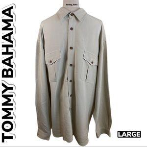 Tommy Bahama Silk Button Down Shirt (L)